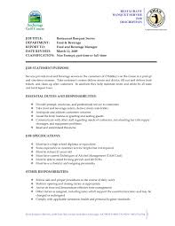 Food Server Resume Examples by Food Server Job Duties For Resume 82 Serving Resume Food Server