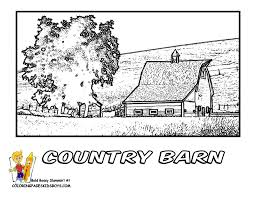 fancy ideas country coloring pages mill page dover publications