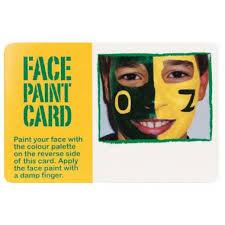 promotional face paint card australia online