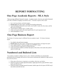 Indented Form Of Business Letter by One Page Academic Reports Mla Style Bbrown Cs3