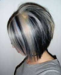 black low lights for grey black hair with blonde underneath pictures of black hair with