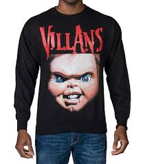 chucky sweater villans chucky crewneck sweatshirt black chucky jimmy jazz