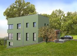 modern high end design garage bulding with wooden and grey