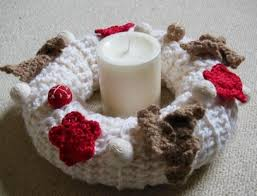 crocheted christmas and leaf crocheted christmas wreath allfreechristmascrafts