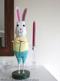 paper mache easter bunny mistletoe home designs papier mâché easter bunny figurine
