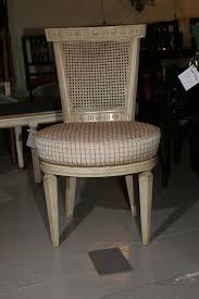 Refinishing Cane Back Chairs Set Of Four White Painted Cane Back Chairs Stamped Jansen For Sale