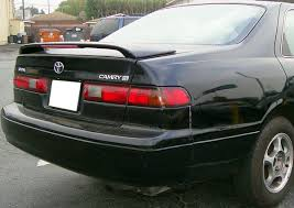 toyota camry spoiler toyota camry 2 post painted rear spoiler with light 1997 1998