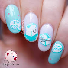 nail art piggieluv ice baby cool cubes nail art remarkable image