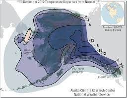 Frost Line Map December 2012 Synoptic Summary Alaska Climate Research Center