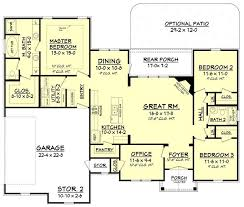 3 bedroom 2 bath house plans house plan 142 1075 3 bdrm 1 769 sq ft traditional home