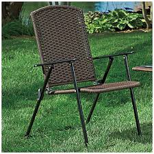 wilson fisher resin wicker folding chair at big lots 29 each