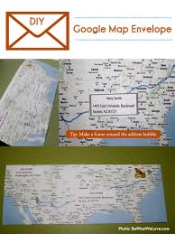 Google Map Austin by Diy Google Map Envelope Bewhatwelove