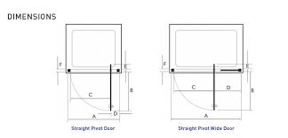 Shower Door Width Kudos Original 1200mm Pivot Wide Shower Door 3pw120s