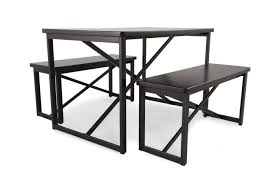 Three Piece Patio Furniture Set - 3 piece dining set with dining benches mathis brothers