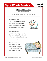 this reading comprehension worksheet once upon a time is for