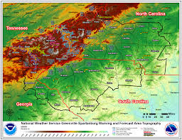 Topographical Map Of Tennessee by Epic Outbreak Of Tornadoes Across The Southeast On 27 28 April