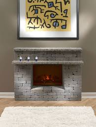 diy electric fireplace surround round designs