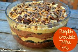 pumpkin chocolate toffee trifle mrs happy homemaker