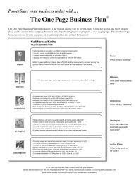 one page business plan template one page business plan template 8