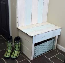 Wooden Entryway Bench Pallet Wood Entryway Bench
