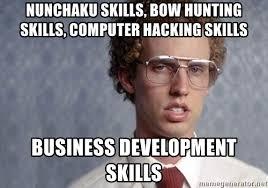 Bow Hunting Memes - nunchaku skills bow hunting skills computer hacking skills