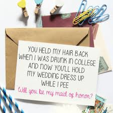 Asking Maid Of Honor Poem Best Bridesmaids Funny Products On Wanelo