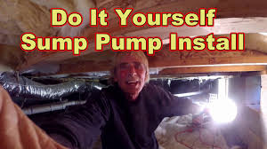 how to install sump pump in crawl space youtube