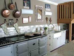 french kitchen large aga in pearl ashes carrara marble floors