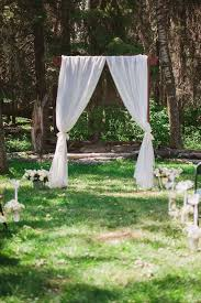 wedding arches canada white curtain outdoor wedding arch my tulle wedding