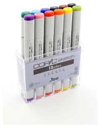 copic sketch marker colors sets b 12 markers writing