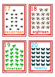 free printable number flashcards 1 20 printable number flash cards 1 to 20 math is fun pinterest