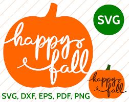 free pumpkin svg happy fall svg pumpkin handwritten calligraphy cut file for cricut