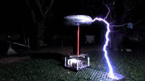 huge tesla coil in backyard shocking science