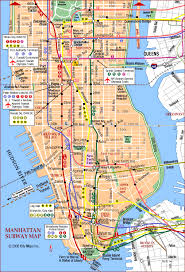 map of new york and manhattan map of new york and manhattan major tourist attractions