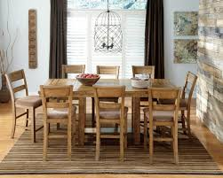 dining room a solid rustic dining room table with long top and