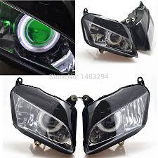 honda cbr 600 re green demon eyes u0026white angel projector headlight assembly hid fits