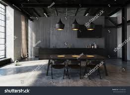 modern hipster dining area industrial loft stock illustration