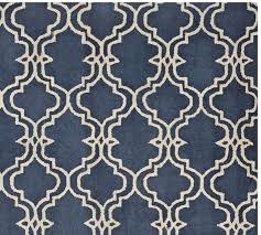 Area Rugs Pottery Barn Scroll Tile Rug Indigo Blue Pottery Barn