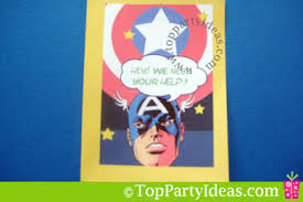 printable captain america birthday invitation free download