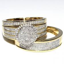 cheap gold wedding rings rings midwestjewellery his 10k yellow gold halo