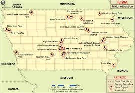 Maps update 800554 iowa tourist attractions map iowa