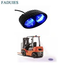 is led light safe faduies 20psc 10w blue led light work forklift safety light spot