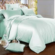 Mint Green Duvet Set Mint Green Silk Bed Linen 100 Mulberry Silk