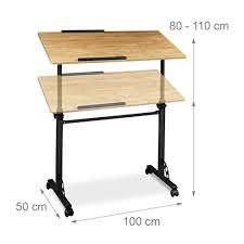 table ordinateur portable canapé relaxdays table ordinateur portable hauteur réglable roues table