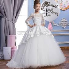 princess pink ball gown flower dresses 2017 vestido longo bow