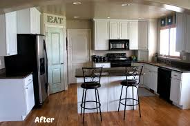 Before And After Kitchen Cabinet Painting White Painted Kitchen Cabinet Reveal With Before And After Photos