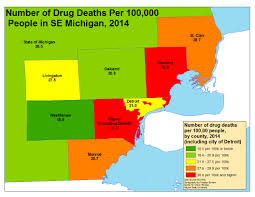 Michigan Prescription Maps by Health