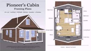 16 x 20 small house plans 6 pioneers cabin 16x20 on modern tiny house floor plans 16x20