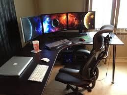 gaming workstation desk corner gaming computer desk l desks for astounding on home