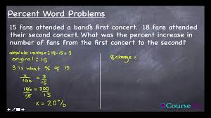 percent word problems 4 of 4 percent increase and decrease